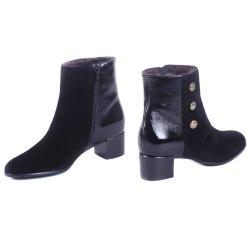 Ботинки микс-2 Nouchka 24433 мех черные