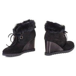 Ботинки с кроликом Giada Gabrielli 4539 мех