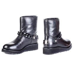 Ботинки меховушки Gianni Renzi 1084 мех черные